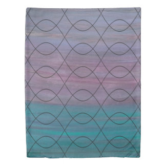 Visionary Bed | Pink Purple Turquoise Blue | Chic Duvet Cover