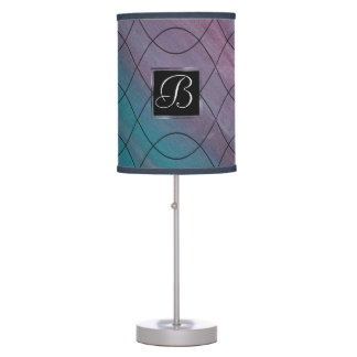 Visionary Decor | Monogram Pink Purple Teal Blue | Table Lamp
