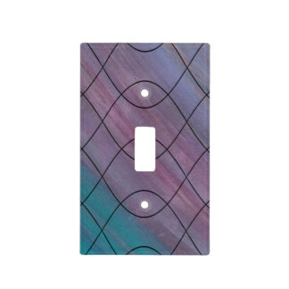 Visionary Decor | Pink Purple Turquoise Blue | Light Switch Cover