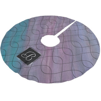 Visionary Holiday | Custom Chic Pink Blue Purple | Brushed Polyester Tree Skirt