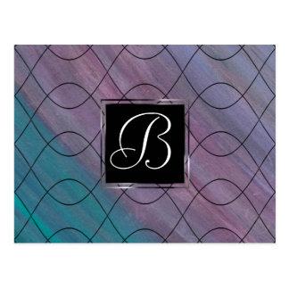 Visionary Office | Monogram Pink Purple Blue | Postcard