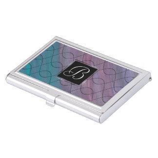 Visionary Office | Monogram Pink Purple Teal | Business Card Holder
