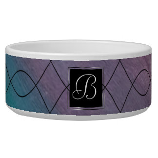 Visionary Pet | Monogram Pink Purple Teal | Chic
