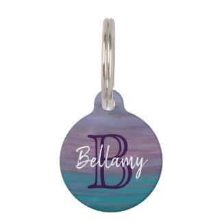 Visionary Pet | Name Pink Purple Turquoise Teal | Pet Name Tag
