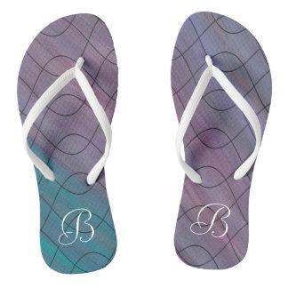 Visionary Style | Custom Chic Pink Blue Purple | Flip Flops