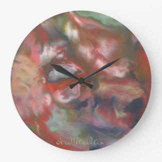 'visions in the clouds' wall clock
