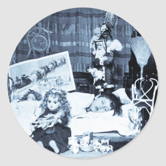 Visions of Sugar Plums 2 - Vintage Stereoview Classic Round Sticker