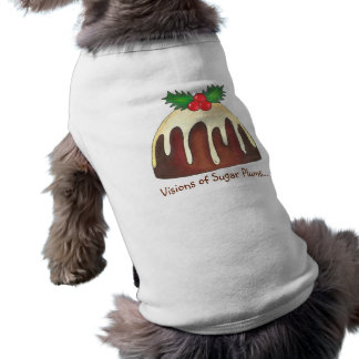 Visions of Sugar Plums Plum Pudding Christmas Tee