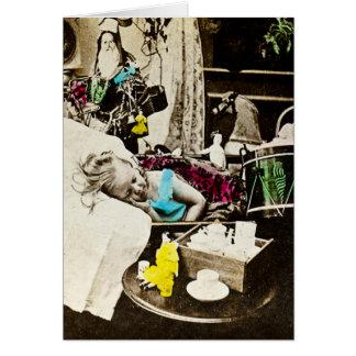 Visions of Sugar Plums - Vintage Stereoview Card