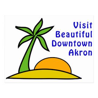 Visit Beautiful Downtown Akron Postcard