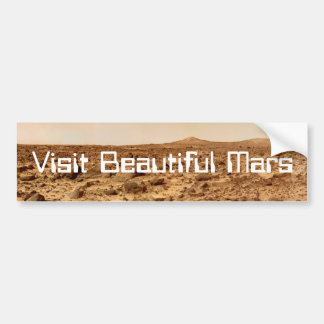 Visit Beautiful Mars Bumper Sticker