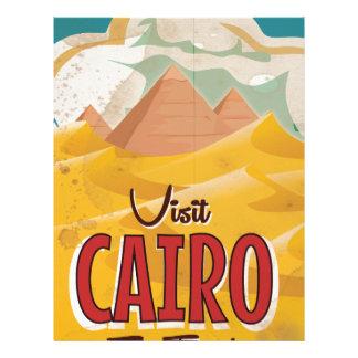 Visit Cairo Egypt vintage travel poster Customized Letterhead