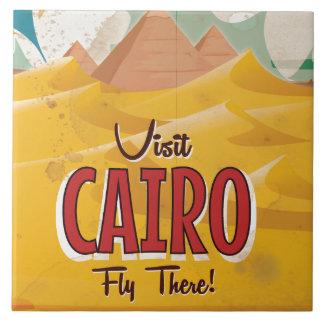Visit Cairo Egypt vintage travel poster Tile