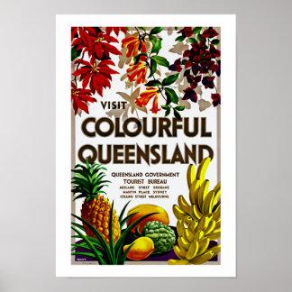 Visit Colorful Queensland Poster