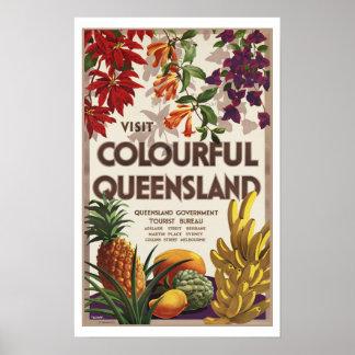 Visit Colourful Queensland Australia Poster