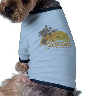 Visit Florida, the Weather's Great - hurricane Doggie T-shirt