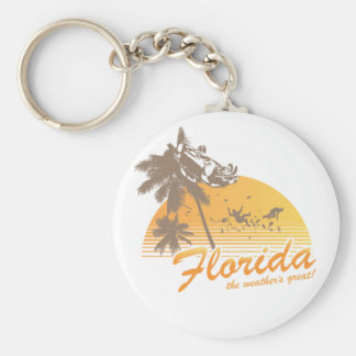 Visit Florida, the Weather's Great - hurricane Key Chain