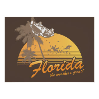 Visit Florida, the Weather's Great - hurricane Poster