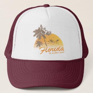 Visit Florida, the Weather's Great - hurricane Trucker Hat