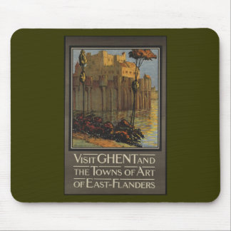 Visit Ghent and the towns of Art of East-Flanders Mouse Pad