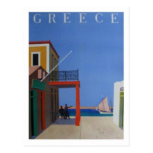 Visit Greece Vintage Poster Postcards