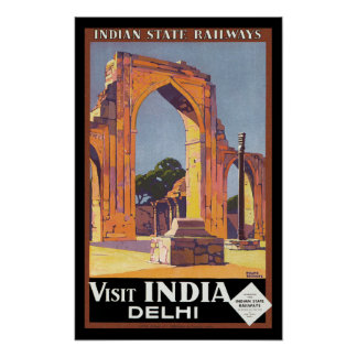 Visit India - Delhi Poster