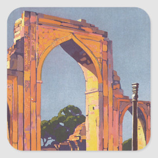 Visit India ~ Delhi Square Sticker