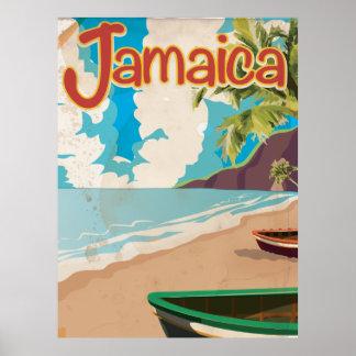 Visit Jamaica Vintage Travel Poster