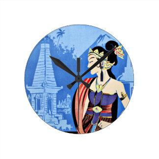 Visit Java Indonesia From Singapore Vintage Clock