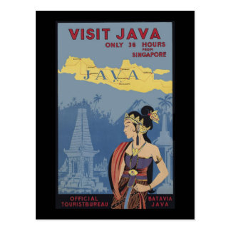 Visit Java Only 36 hours from Singapore Postcard