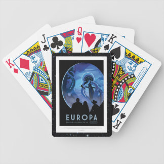 Visit Jupiter Moon Europa - Space Tourism Advert Bicycle Playing Cards