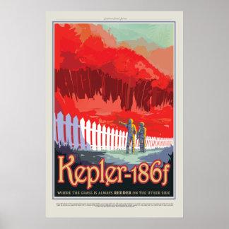 Visit Kepler 186f  NASA Vintage Travel Poster