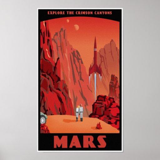 Visit Mars Posters