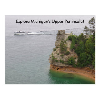 Visit Miners Castle in Michigan's Upper Peninsula Postcard