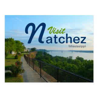 Visit Natchez, Mississippi on the Bluffs Postcard