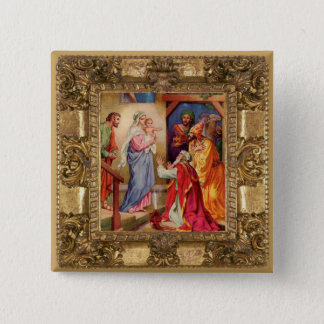 Visit of the Wise Men 2 Inch Square Button
