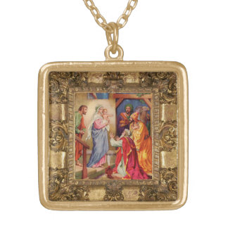 Visit of the Wise Men Gold Plated Necklace