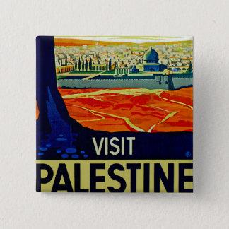Visit Palestine 2 Inch Square Button