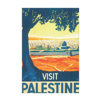 Visit Palestine Vintage Travel Poster Canvas Print