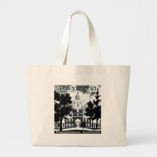 Visit Philadelphia on the Pennsylvania Railroad Large Tote Bag