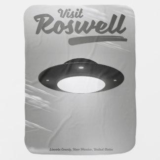 Visit Roswell UFO vintage poster Baby Blanket