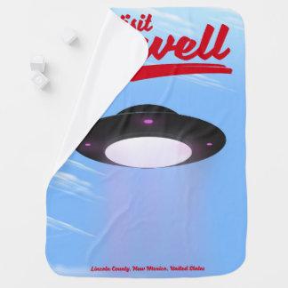 Visit Roswell UFO vintage poster Color Baby Blanket