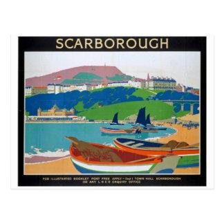 Visit Scarborough Poster Postcard