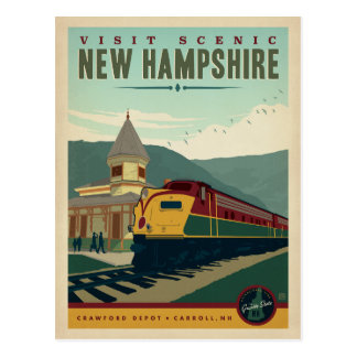 Visit Scenic New Hampshire Postcard