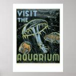 Visit the Aquarium - WPA Poster -