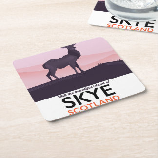 Visit the Beautiful Island of Skye Square Paper Coaster