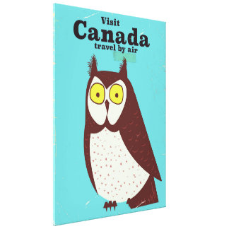 Visit the Canada Owl poster Canvas Print
