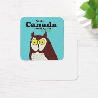 Visit the Canada Owl poster Square Business Card