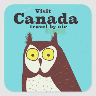 Visit the Canada Owl poster Square Sticker