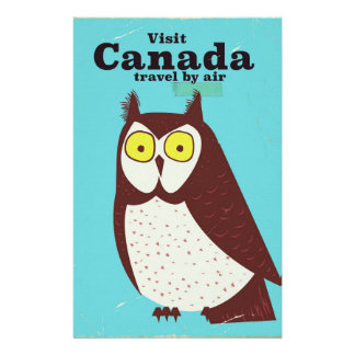 Visit the Canada Owl poster Stationery